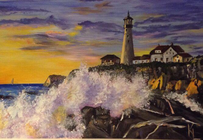 Maine Coast USA, A New Day - Kathy Lemmer