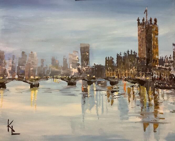 London along the Thames - Kathy Lemmer