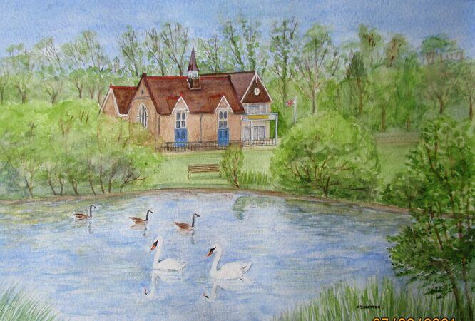 West End Lake, Hersham, Surrey - Christine Hatton