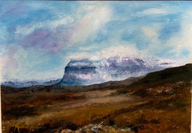 Suilven in Snow - Michael Hedgecoe