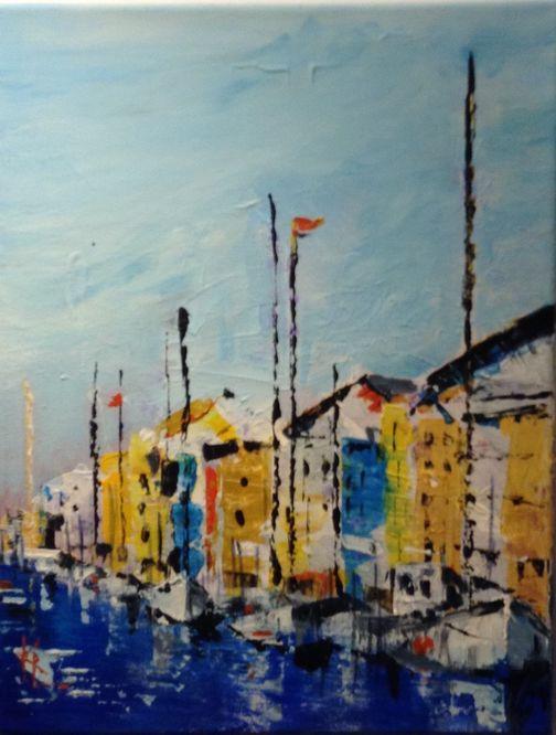 Kathy Lemmer - Boats in the Harbour, Copenhagen