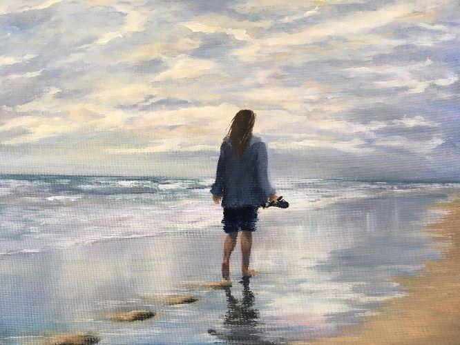 Lauren Sapseid - Girl on the Beach
