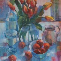 Liz Seward - Orange Tulips