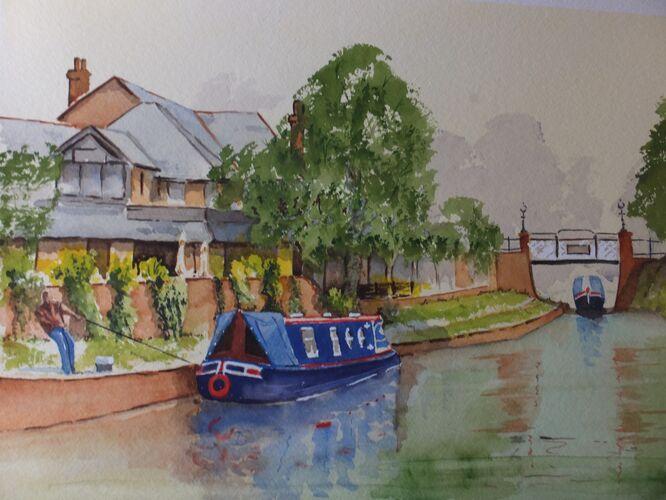 Mooring at St.Johns on the Basingstoke Canal - David Harmer