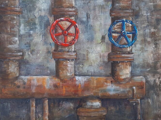 Rusty pipes – Sue Hinton