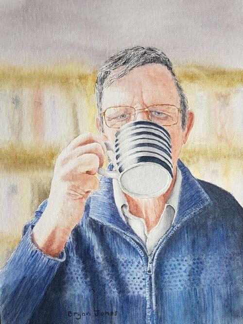 Self-portrait with Coffee - Bryan Jones