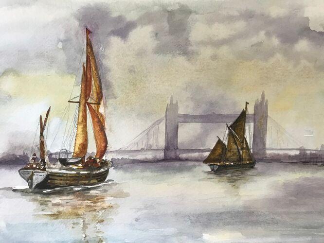 Thames Barges - Elaine Balmer
