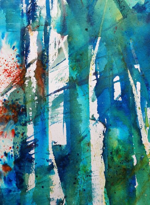 Trees in Sunlight - Laura Theobold