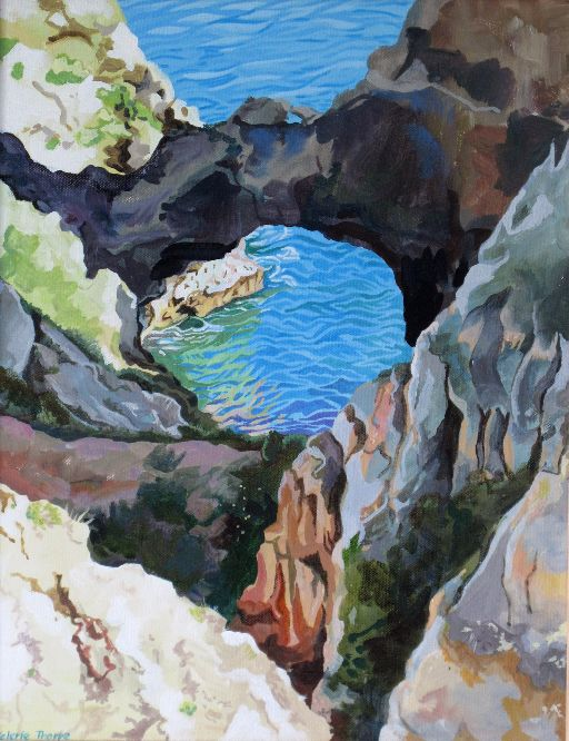 Val Thorpe - Algarve - hole in the cliff