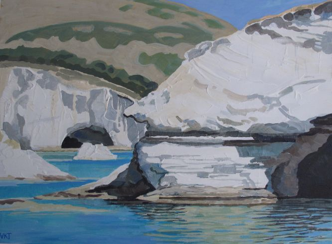 Val Thorpe - White cliffs of Milos, Greece