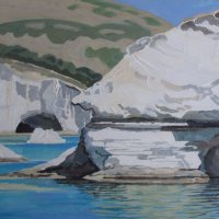 Val Thorpe - White cliffs of Milos, Greece