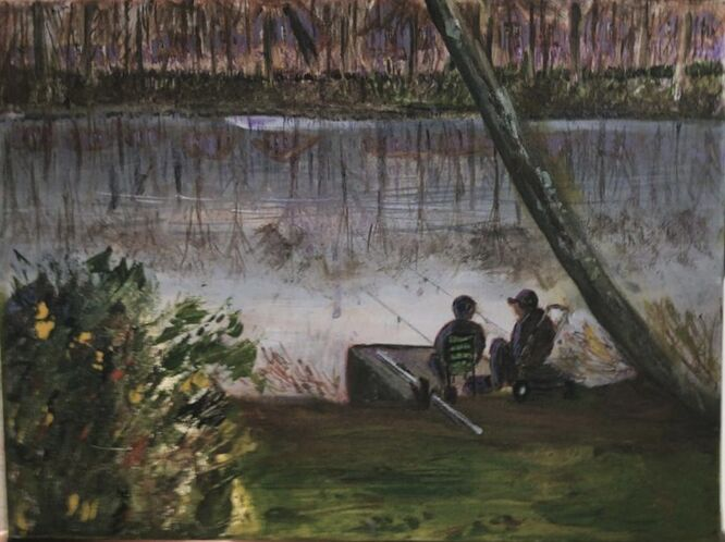 Fishing on Goldsworth Lake - Joan Curran