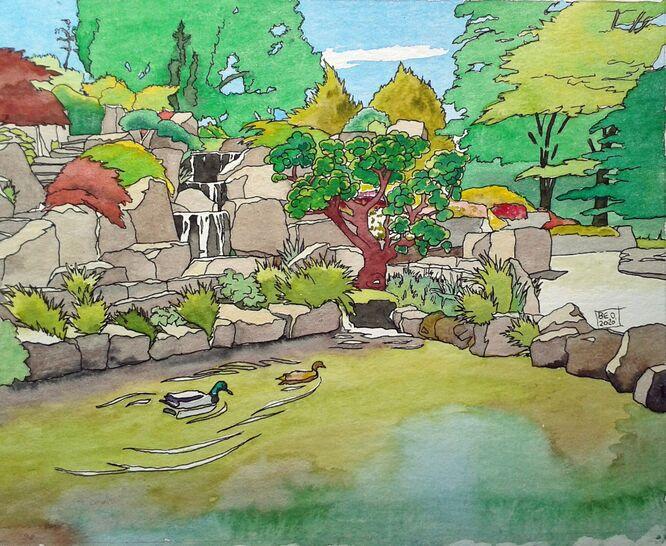 Wisley Gardens Rockery - Brenda Ord