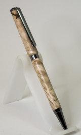 Black Titanium Plated Slimline Pen in Ash  SOLD
