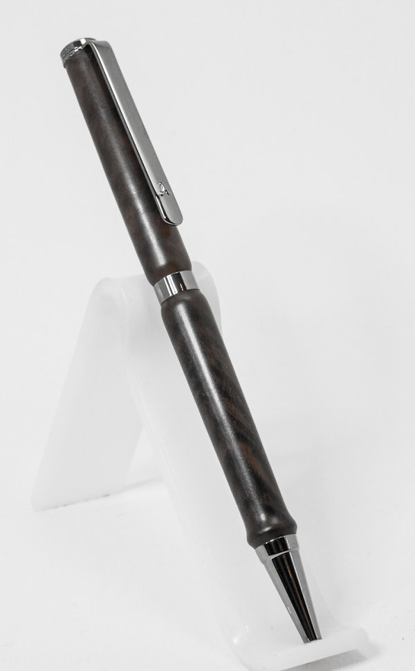 Black Titanium Plated Slimline Pen in Walnut SOLD