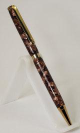 Titanium Gold Plated Slimline Pen in Vintage Pen Rod