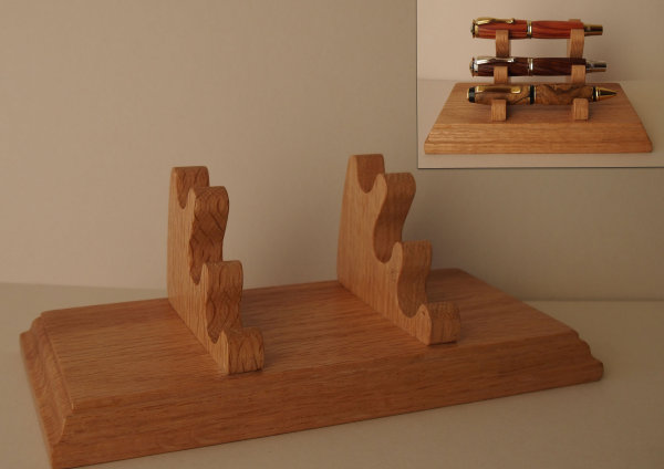 Desk Pen Display Stand in Red Oak SOLD