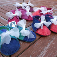 Hand-felted bootees