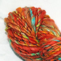 Hand-spun wrapped merino and mohair