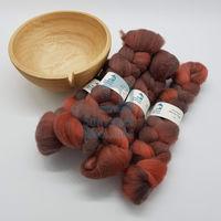 Merino Mini Tops - Coral, Brown