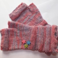 Hand-dyed, hand-spun, hand-knitted mittens