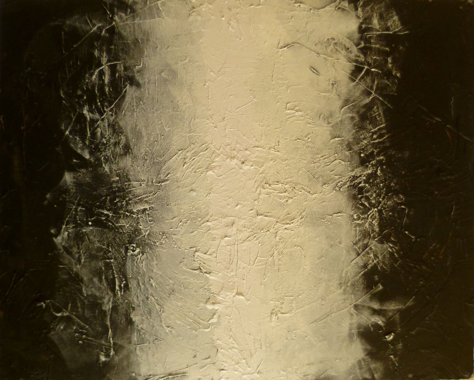 Covergence  1  65v80x1.8cm  (oil and wax on canvas)