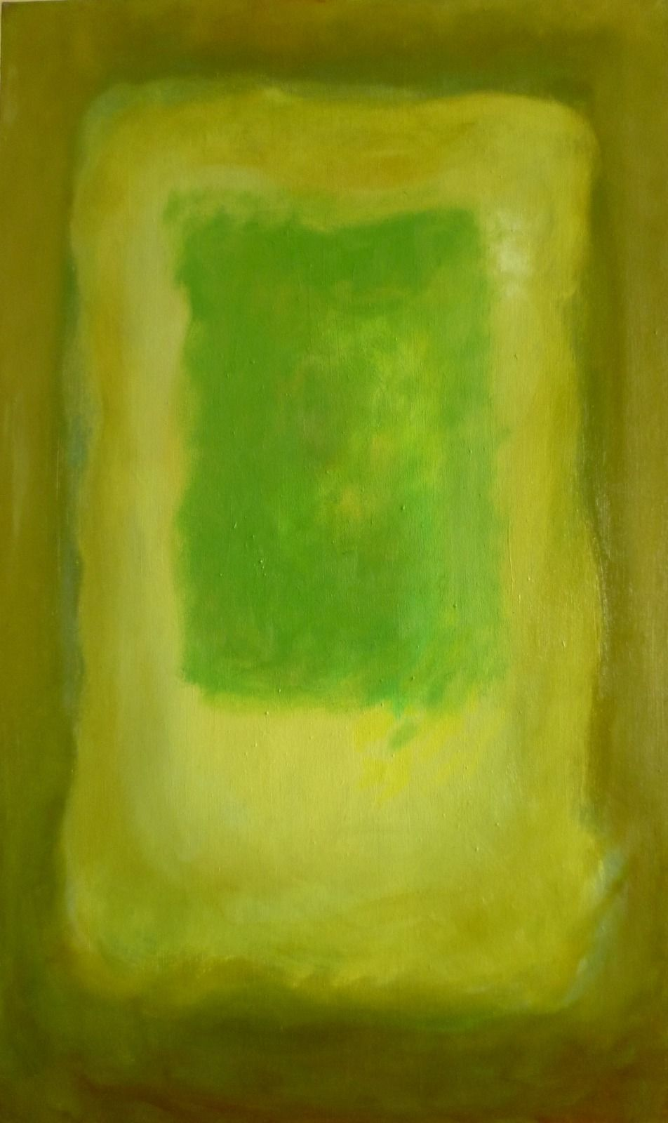 Emerging 6. 61x102x1.8cm (oil on canvas)