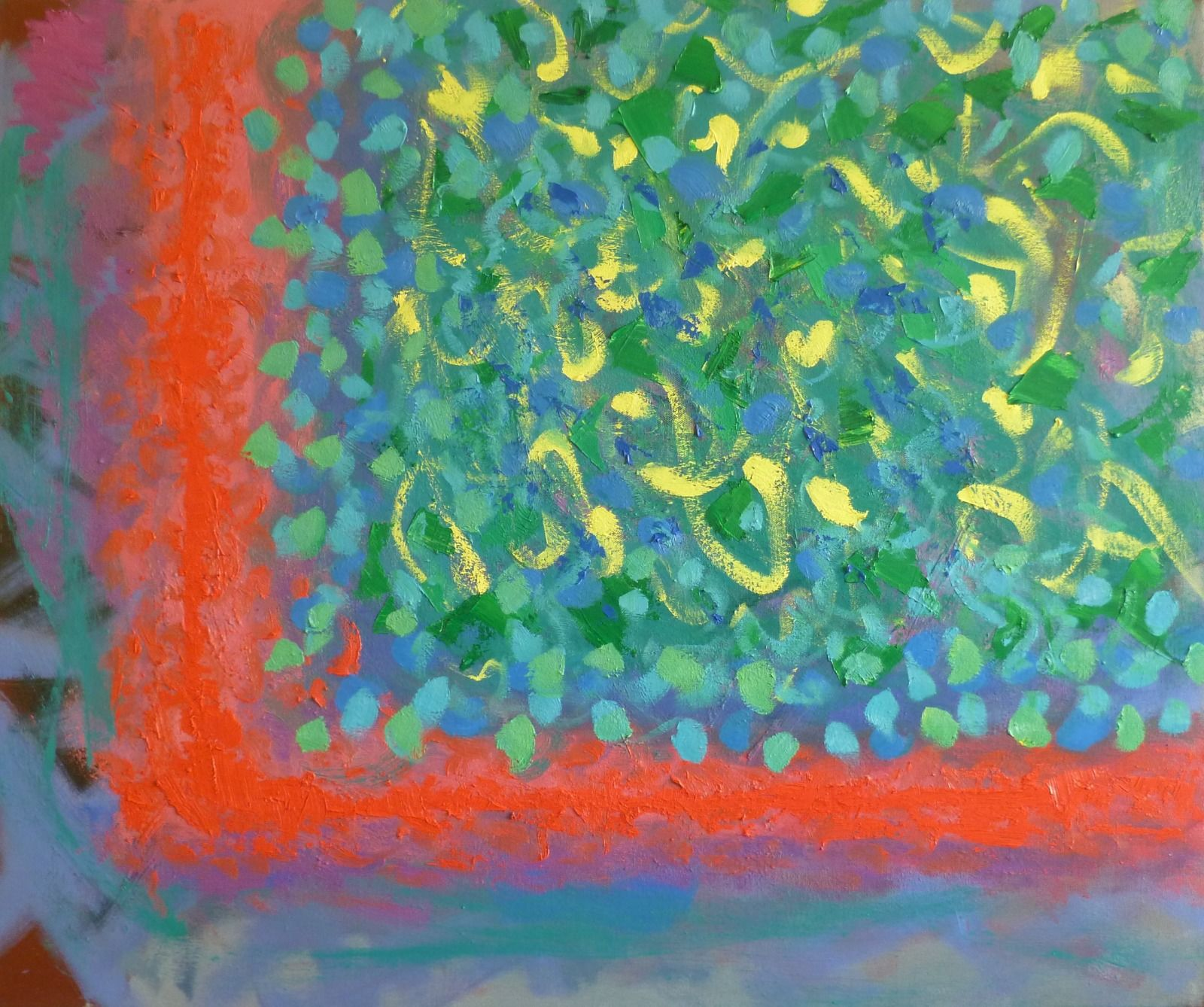 Limited Field 1  75x90x1.8cm  oil on canvas