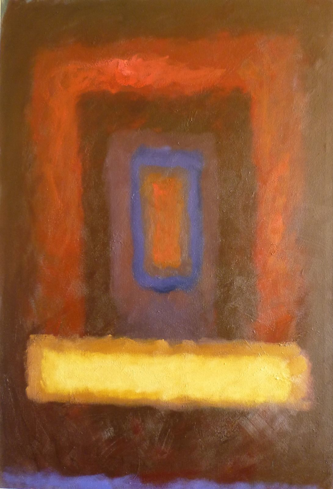 Worlds2. 72x109x4.5cm (oil on canvas)