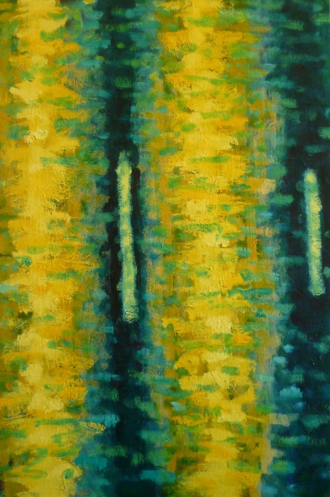 de Broglie 4. 50x76 x1.8cm(oil on canvas)