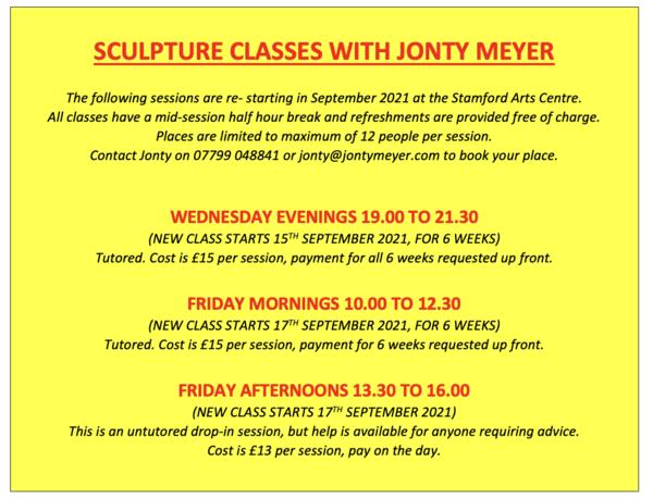2021 Sept Sculpture Classes