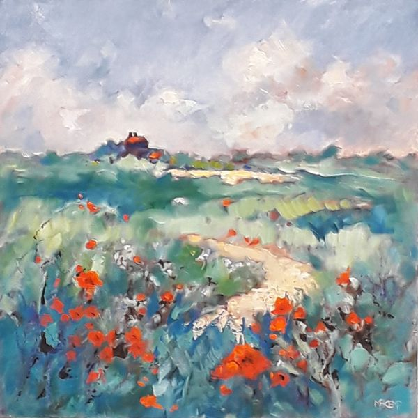 Norfolk Poppies - Oil