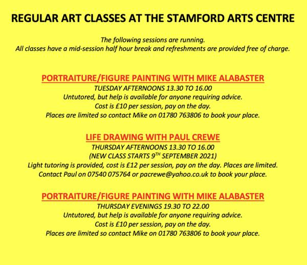 September Art Classes 2021