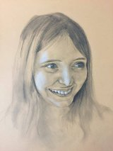 "Simon Rigby.""Portrait of Smiling Girl"""