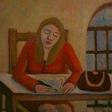 154-GIRL STUDYING