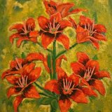 156-ORANGE LILLIIES