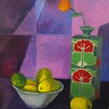still life with lemons and vase