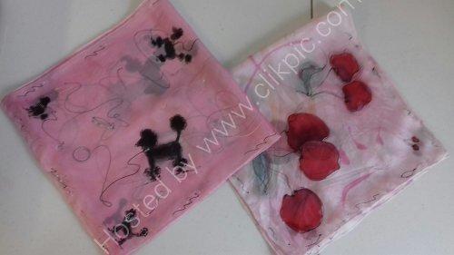 silk scarfs hand painted