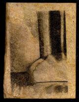 liquid light print, on stone