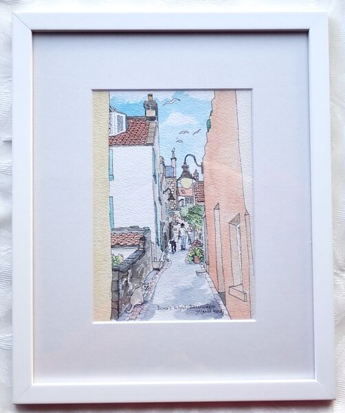 Framed Original of 'Up Bruce's Wynd in Pittenweem' £95
