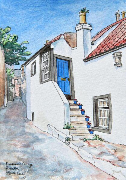 Framed Original ' Fisherman's Cottage, Anstruther'... Sold