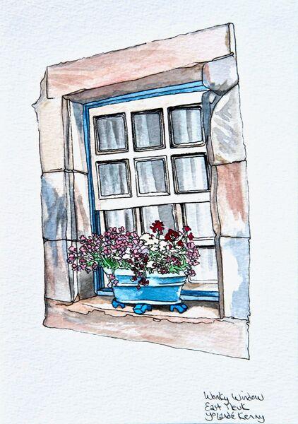 Framed Original 'Wonky Window'.. Sold