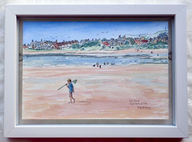 Framed Original of Elie Beach.. £125