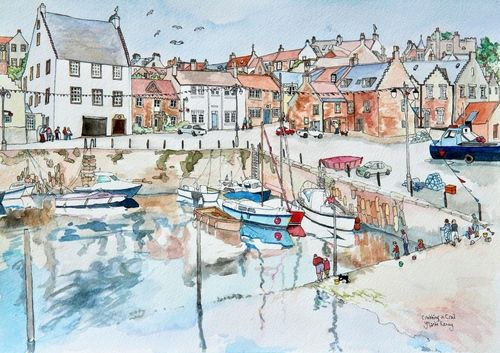 Print 'Fishing for Crabs in Crail Harbour'... £39