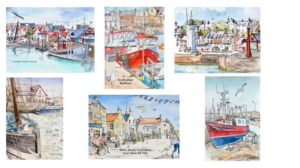 Set 1, Anstruther cards montage