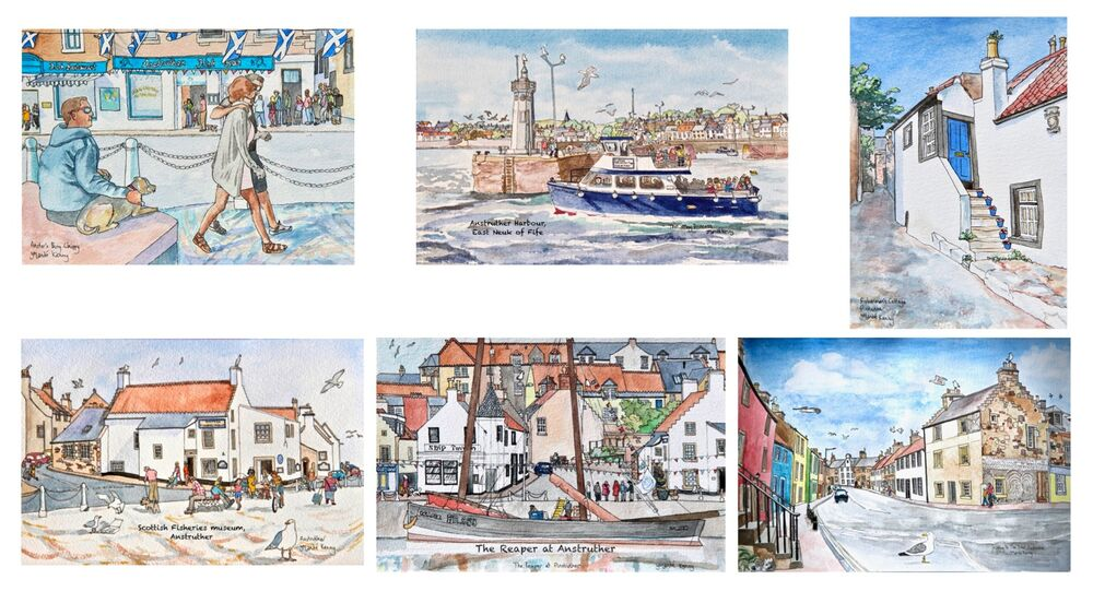 Anstruther Cards montage (Set 2)