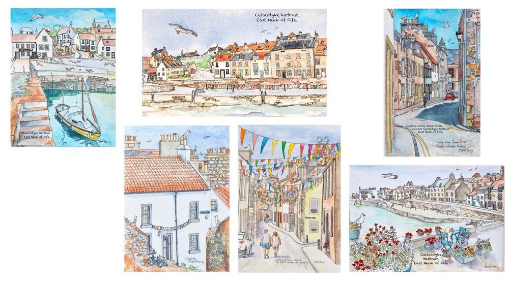 Cellardyke cards montage