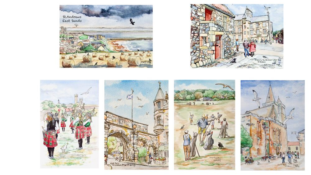 St.Andrews Card montage new pack