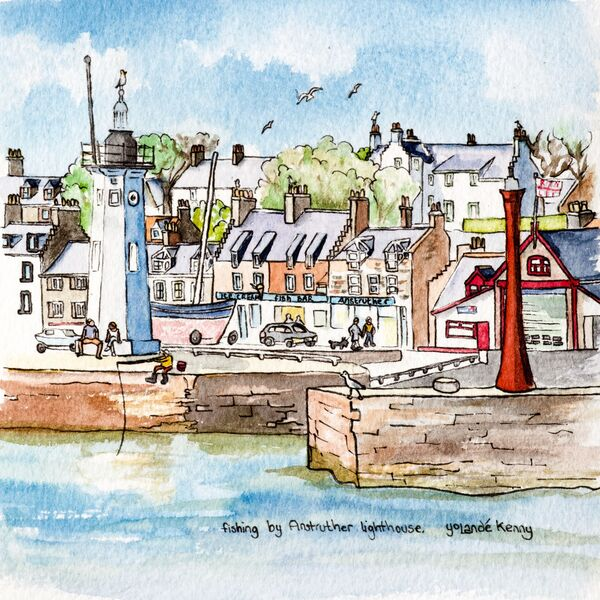 Print 'Fishing by Anstruther Lighthouse'... £22
