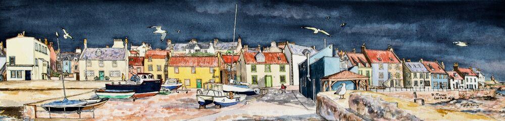 Original Watercolour 'St.Monans before the Storm'